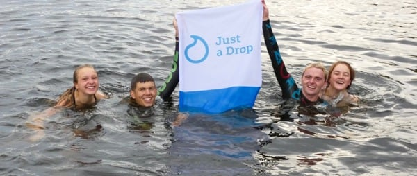 George Taplin becomes first swimmer to  complete 13 Lakes Challenge in three days and all for Just a Drop!